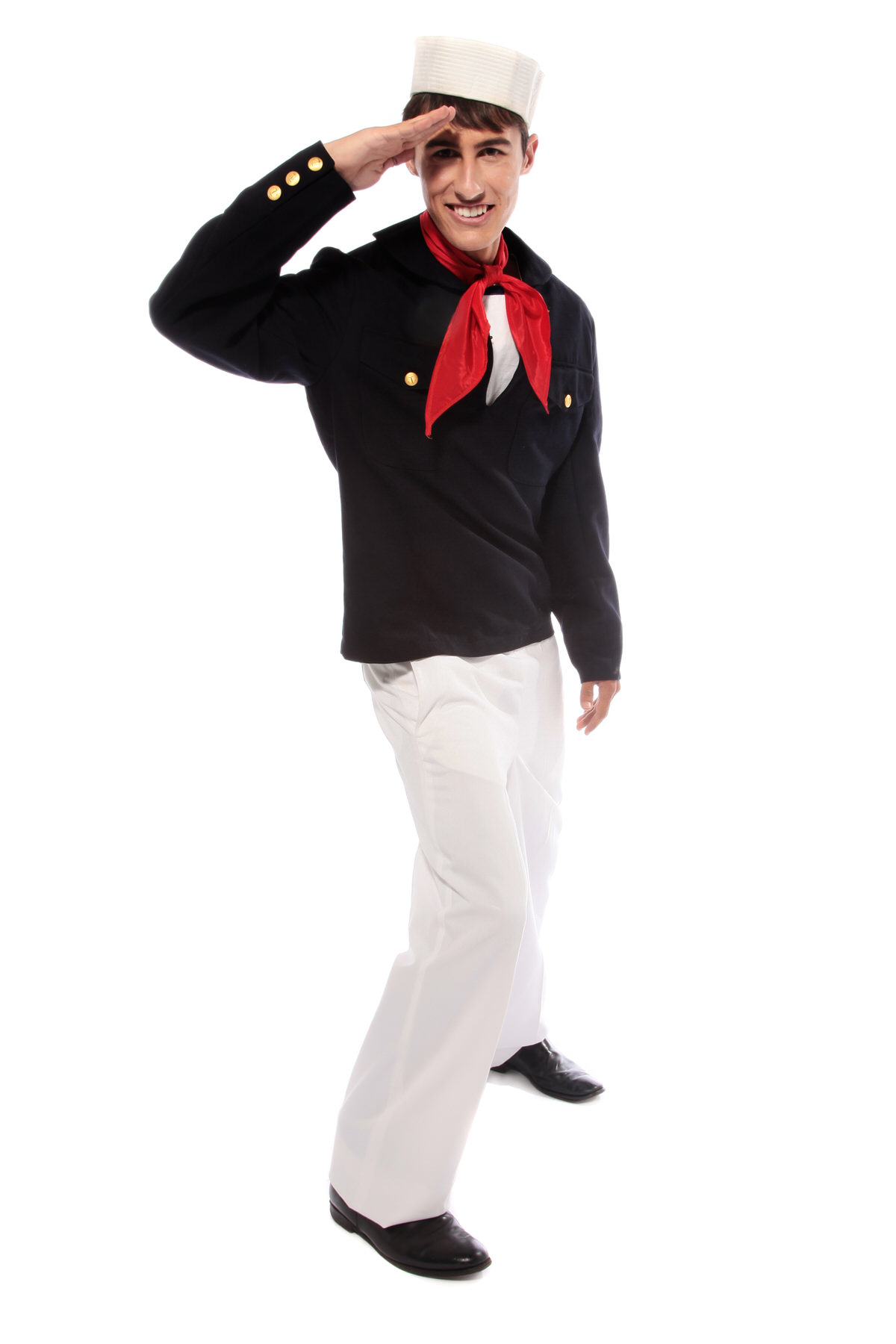 SAILOR SHORT JACKET NAVY COSTUME W RED NECK CHIEF