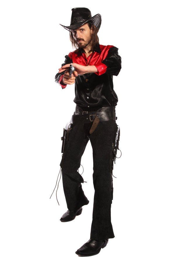 COWBOY RED AND BLACK COSTUME alt