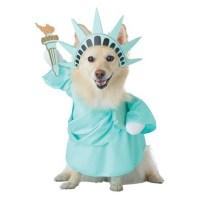 Lady Liberty Dog Halloween Costume  Dog Costumes  Statue ...