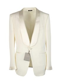 TOM FORD O'Connor Shawl Collar Ivory Sport Coat Tuxedo ...