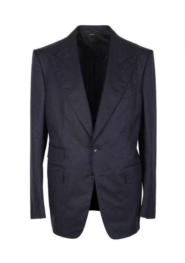 Tom Ford Shelton Blue Suit Size 50 40r U. Cotton