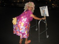 Granny looking for lost dog Costumes