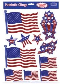 Patriotic Window Clings - CostumePub.com