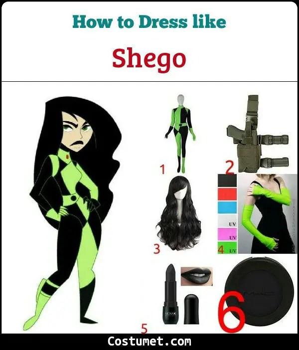 dress like shego costume