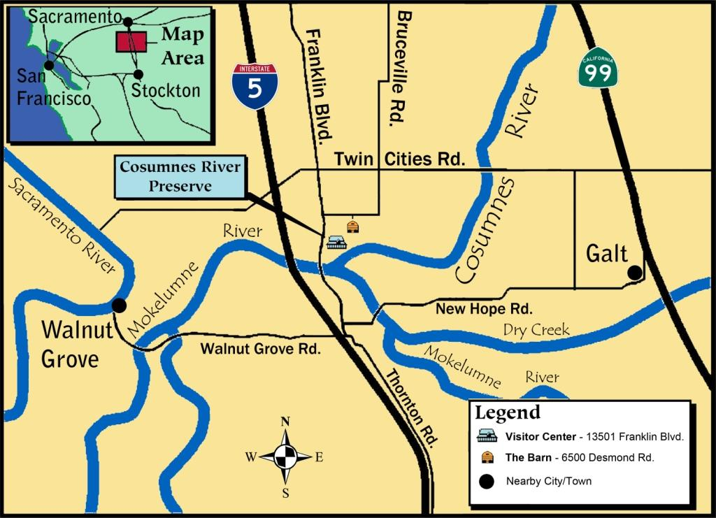 Cosumnes River Preserve Map