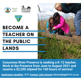 Become a Teacher on the Public Lands