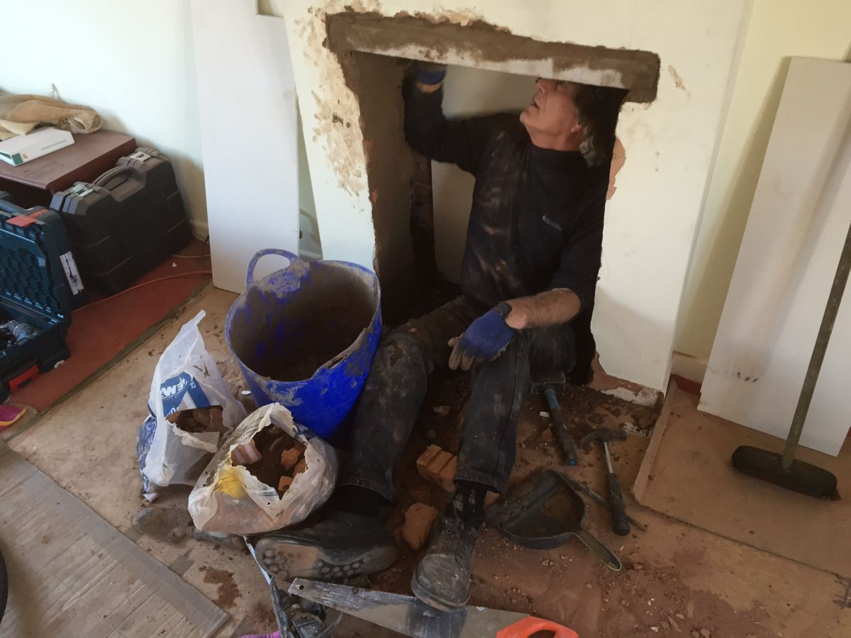 fireplace knockout and woodburner installation cosy stoves