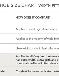 Shoe size chart also same roomy fit different terminology cosyfeet rh