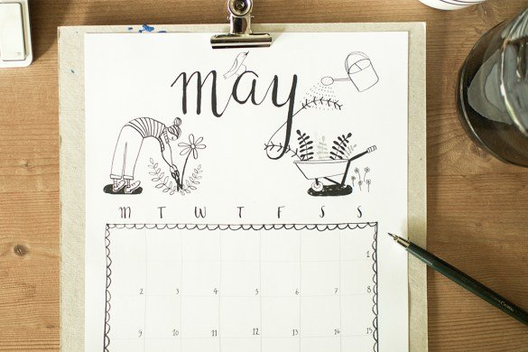 free printable calendar sheet may
