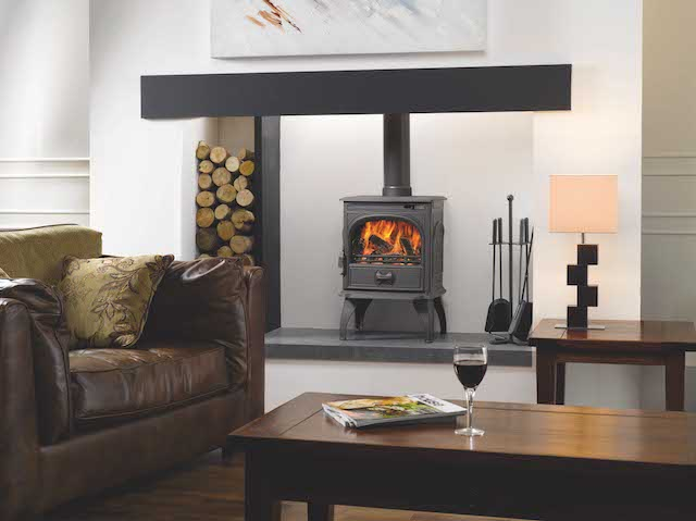 cosy living room with log burner color design ideas dovre 250 stoves fireplaces in kent