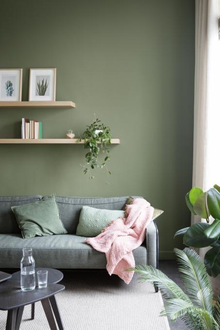 Groene muurverf  Cosy Wonen