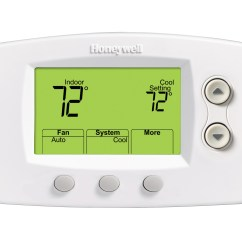 Heat Pump Thermostat Wiring Diagram Honeywell Frost Stat For Rheem