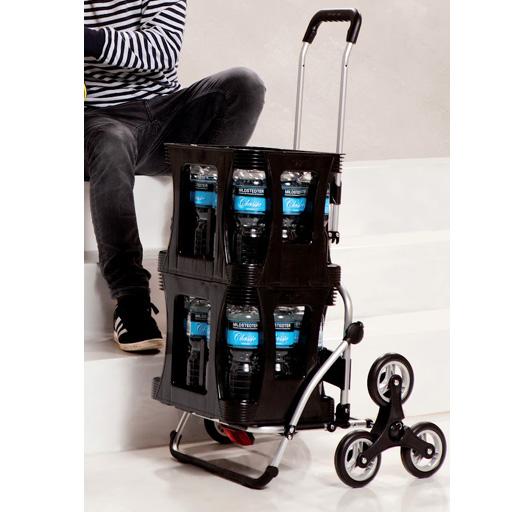 chariot de courses noir 56l isotherme 6