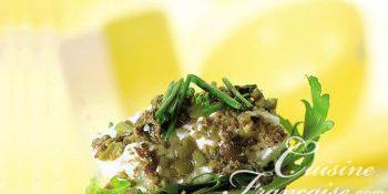 Quenelles de chèvre aux olives