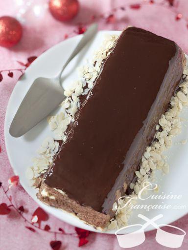 Bûche de Noël Poires-chocolat