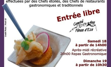 7èmes Journées de la Gastronomie Eze