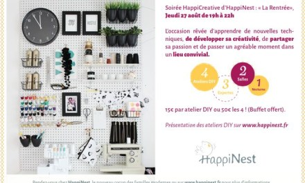 Soirée HappiCreative d'HappiNest