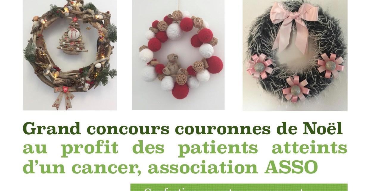 Concours de couronnes de Noël au profit d' ASSO pour soutenir les patients atteints d'un cancer