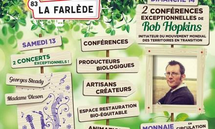 14eme édition de la foire bio de La Farlède avec Rob Hopkins!