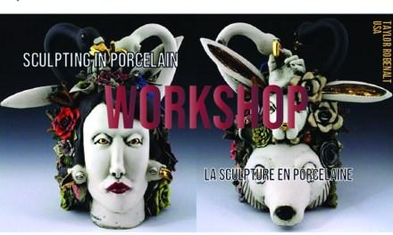 Atelier Masterclass avec Taylor Robenalt – USA    La sculpture en porcelaine.
