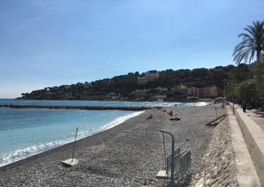 Der Strand in Roquebrune Cap Martin