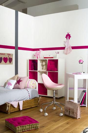 Une chambre rose pour les filles  Ct Maison