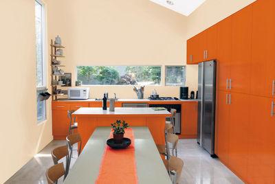 Repeindre la cuisine  meubles mur lectomnager sol