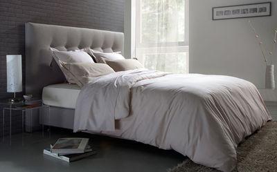 tete de lit recouverte de tissu polyester et polyamide l 160 cm x p 9