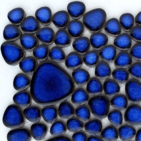 galets japonais cobalt bleu mini plaque