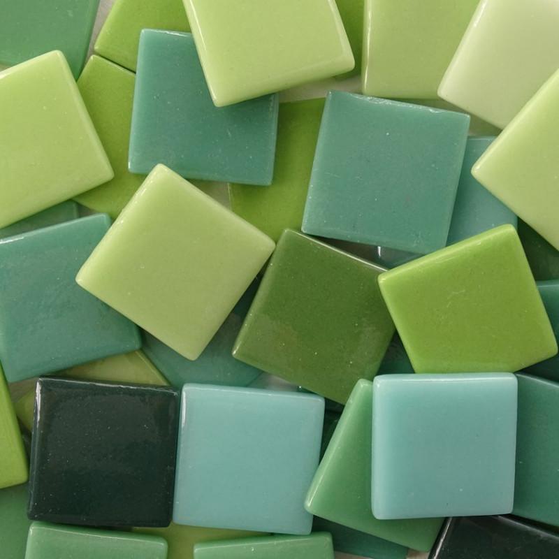 Mosaique Pate De Verre Espagnole Tendrement Vert