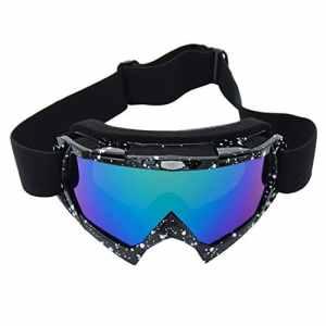 Coface Lunettes de cyclisme résistantes au vent et aux rayures PU UV400Lunettes Lunettes de ski de compétition pour vélos de moto-cross ATV