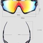 TOPTETN Polarized Sports lunettes de soleil UV400 protection lunettes de vélo avec 5 lentilles interchangeables pour le cyclisme, baseball, pêche, ski, course (02)