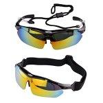 Duco Lunettes de soleil polarisées sports d'extérieur Lunettes avec verres interchangeable 5 verres Lunettes professionelles pour cyclisme UV400 SP0868