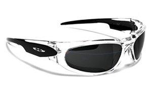 X-Loop Lunettes de Soleil – Sport – Cyclisme – Running – Ski – Conduite – Moto – Plage – Mtb / Mod. 012P Noir Cristal