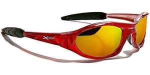 X-Loop Lunettes de Soleil – Sport – Cyclisme – Ski – Squash – Moto – Plage / Mod. 010P Rouge Translucide Fire iridium