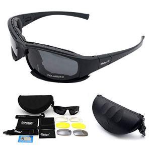 Maso Lunettes de Soleil X7 Militaires Polarisées avec 4 Verres Interchangeables pour Sport Course Cyclisme Ski Pêche Unisexe