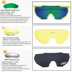 HTTOAR Lunettes de Soleil de Sports de Plein air UV400 Protection vélo Lunettes polarisées, adapté pour Le Cyclisme Lunettes de Baseball pêche Ski Course Lunettes de Conduite (Green-1)