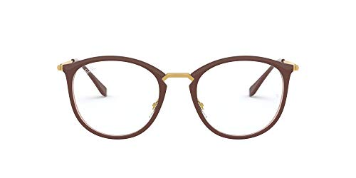 Ray-Ban RX7140 Lunettes de Repos, Brown, 49 Femme