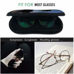 Ahdyr Étui à lunettes américain sur un cheval lunettes de soleil souples étui à lunettes sac pour hommes femmes voyage
