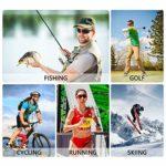 DUDUKING Lunettes de Cyclisme Anti-UV Lunettes de Soleil Polarisées Anti-buée pour Hommes et Femmes Ski Pêche Conduite Golf Escalade Sports Lunettes