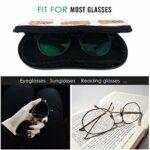 Ahdyr Hot Dikkity Dogs Personnalité des hommes et des femmes Mode Durable Étui à lunettes portable 3.1 X 6.1In Étui à lunettes de soleil étanche Zipper Hard Shell