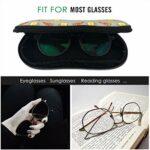 AOOEDM Étui à lunettes motif cocotier Étui à lunettes SunglaÉtui souple sses pour hommes et femmes