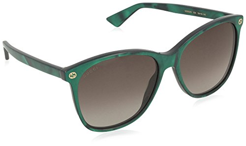 Gucci GG0024S 004 Montures de lunettes, Vert (Green/Brown), 58 Femme