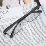 Lunettes de lecture flexibles souples en acier inoxydable Lunettes presbytes écologiques, pour hommes adultes