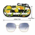 PageHar Étui à motif Tropical citron orange pour lunettes de soleil pour hommes enfants étui à lunettes de soleil étui à glissière portable en néoprène pour lunettes