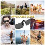 Clip Solaire, Gritin Polarized lunettes de soleil [Lot de 2 Vision du Jour] Clip sur lunettes de soleil pour Hommes / Femmes pour la Conduite et les Activités de plein air