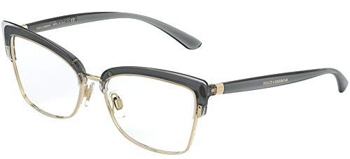 Dolce & Gabbana cadre optique DG5045 3160 TRANSPARENT GRIS/OR plastique gris taille 53 mm de femmes