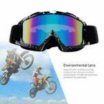 4-FQ Lunette de Moto Cross, Lunettes de Protection de sécurité réglables, Lunettes de Ski d 'anti-UV d'anti-buée Coupe-Vent pour Activités Extérieures