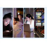 EYEphd Lunettes de Lecture pour Femmes Lunettes d'ordinateur HD Anti-Bleu/Anti-Fatigue, lentille élégante en résine asphérique à Grande Monture 1.56 grossissement +0,5 à +3,0,Bleu,+1.75