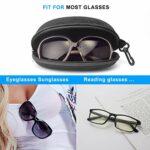 Étui à lunettes AkoaDa, (lot de 2) Étui à lunettes Étui rigide Femmes Hommes Boîte de protection portable avec crochet à glissière – Noir